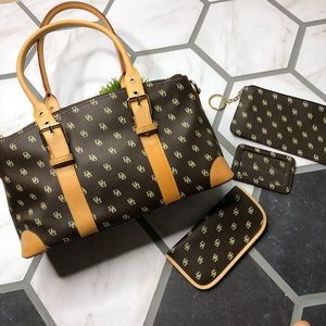 Dooney and Bourke domed satchel complete set